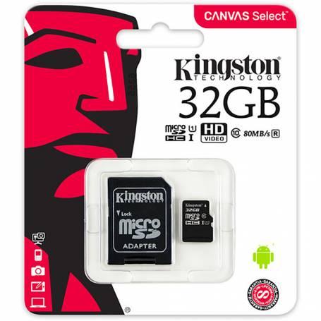 Tarjeta Micro SD 32GB  Kingston Clase 10