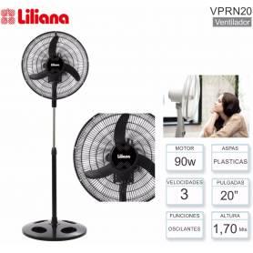 """Ventilador de pie 20"""" Liliana VPRN20 Cabezal Orbital + Repeler"""