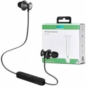 "Auricular Wireless INSTTO ""inrUN9"" In Ear Inalambricos BT Black"