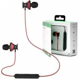 "Auricular Wireless INSTTO ""inrUN9"" In Ear Inalambricos BT Red"