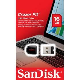 Pendrive Nano Cruzer Fit 16Gb Sandisk USB