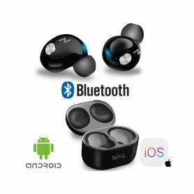 Auricular Bluetooth Noga NG-BTWINS In Ear Inalambricos Negros