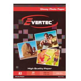 Papel Foto Glossy A3+ 200g 20 hojas EVERTEC