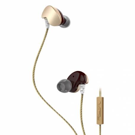 Auriculares ACTIVE METALIC Kolke KOA-304 Dorado
