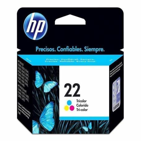 Cartucho   HP 22 original de tinta tricolor
