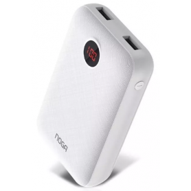 Cargador Portátil de 10.000 mAh, Power Bank - Blanco