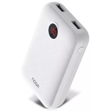 Cargador Portátil de 10.000 mAh, Power Bank - Blanco