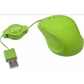 Mouse Rectráctil Noga Net NGM-418 Mini Verde