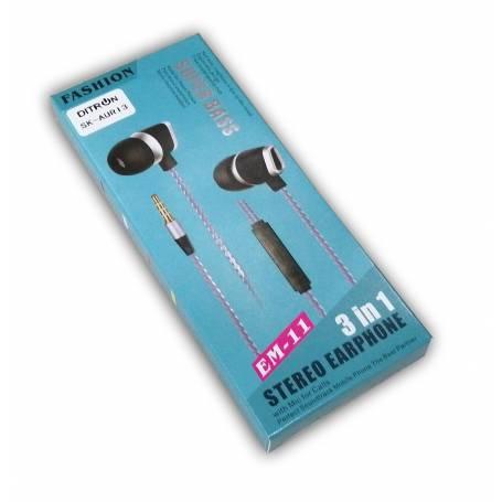 Auriculares in Ear c/mic DITRON Fashion EM-11