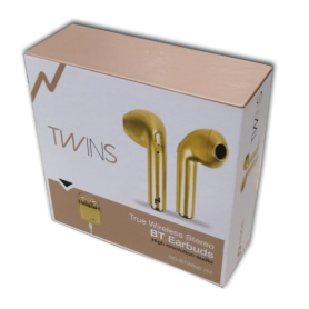 Auricular Bluetooth Noga NG-BTWINS 2M In Ear Inalambricos Gold