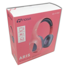 Auriculares Bluetooth Noganet  Aris NG-919BT-RS