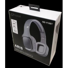 Auriculares Bluetooth Noganet  Aris NG-918BT GRIS