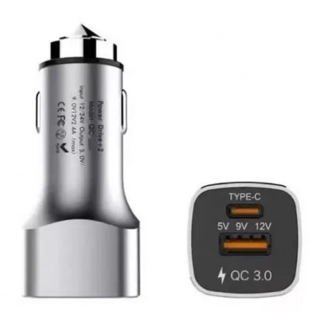 Cargador de auto USB Fast Charger - KOLKE - KQC-300