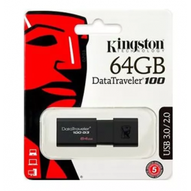 Pendrive 3.0 Kingston 64GB DataTraveler 100
