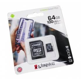 Tarjeta microSD Canvas Select Plus, 64gb Kingston