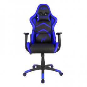 Silla Gamer Ergonomica Noga Kaos Azul y Negra