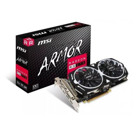 Placa de video MSI Radeon RX 570 Gaming ARMOR 4GB