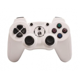Joystick Inalambrico para PC + PS2 + PS3 Bateria de Litio Noga 3090 Blanco