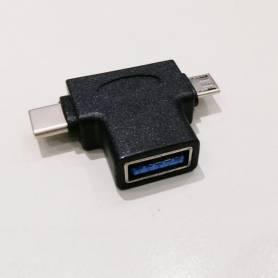 Adaptador OTG a USB Type C 3.0 + Micro USB