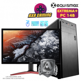 Pc Equismax GAMER Intel Core i5-9400F / 16GB / Geforce 1050Ti / SSD M2 240GB + HD 1 TB  + MONITOR - PC14B -