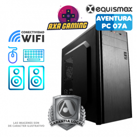 Pc Equismax Aventura GAMER AMD Ryzen 3 3200G / Geforce 1650. / 16GB / SSD 240 Gb - PC07A -