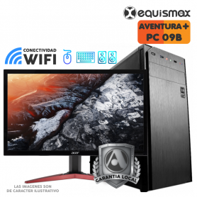 Pc Equismax Pro - AMD Ryzen™ 5 3400G / 16GB /  SSD 120 GB + HD 1 Tb + MONITOR - PC09B -