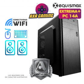 Pc Equismax GAMER Intel Core i5-10400F / 16GB / Geforce 1050Ti / SSD 240GB + HD 1 TB - PC14A -
