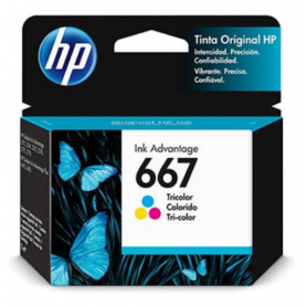 Cartucho HP 667 original de tinta color