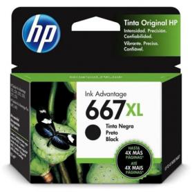 HP 667 XL *Alto rendimiento* original de tinta negra