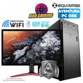 Pc Equismax Aventura GAMER Intel Core i3-9100F / 16GB / Geforce GTX 1050Ti  / SSD 240 GB + MONITOR - PC08B -