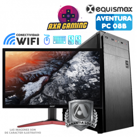 Pc Equismax Aventura GAMER Intel Core i3-9100F / 16GB / Radeon RX 560 / SSD 240 GB + MONITOR - PC08B -