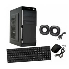 Gabinete Kit CROMAX con fuente de 600W, (incluye teclado, mouse y parlantes)