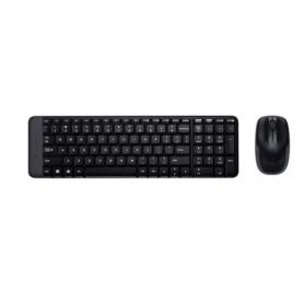Teclado y Mouse Logitech MK220 Multimedia Inalámbrico