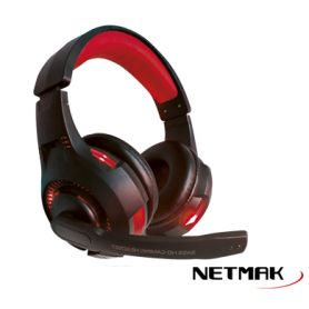 Auriculares Netmak NM-Venger Gamer / Retroiluminado / Pc /Ps4