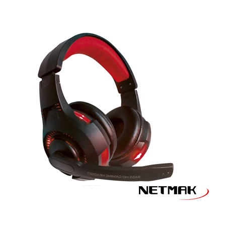 Auriculares Netmak NM-Venger Gamer / Retroiluminado / Pc /Ps4