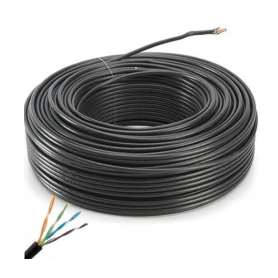 Cable UTP x 100 mts CAT. 5 de INTERIOR MTS - BOBINA - NETMAK