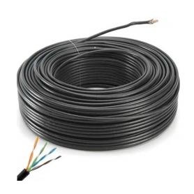 Cable UTP x 100 mts CAT. 5 de EXTERIOR MTS - BOBINA - NETMAK