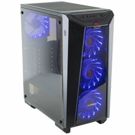 Gabinete Gamer AUREOX Nereid ARX 320G Mid Tower Fan X4 120mm Led - Sin Fuente -