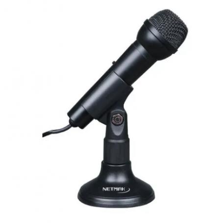 Micrófono con soporte - Netmak - NM-MC2