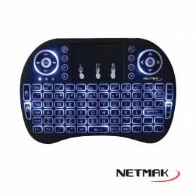 Mini Teclado Inalámbrico Smart Tv  touchpad NETMAK - black