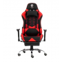 Silla Gamer Dooku by Kanji KJ-488 Con apoya pies (Black-RED // Black-BLUE )