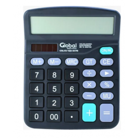 Calculadora Global 12 dígitos plástica CALCU-12D-837B (no incluye pilas)