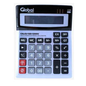 Calculadora Global 12 dígitos Metalica CALCU-12D-1200V (no incluye pilas)