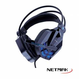 Auricular Gamer c/Micrófono Netmak NM-SPIDER  para PC´s, Consolas, Tablets, Moviles