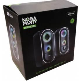 Parlantes 2.0- LED - Bluetooth -  Noga NG-BT266