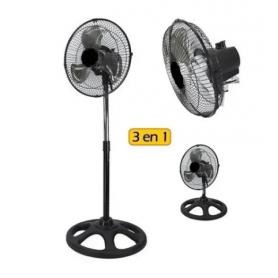"Ventilador de Pie EIFFEL 10"" 3 en 1 - MOD: E-510 -3 Velocidades, Aspas de Metal"