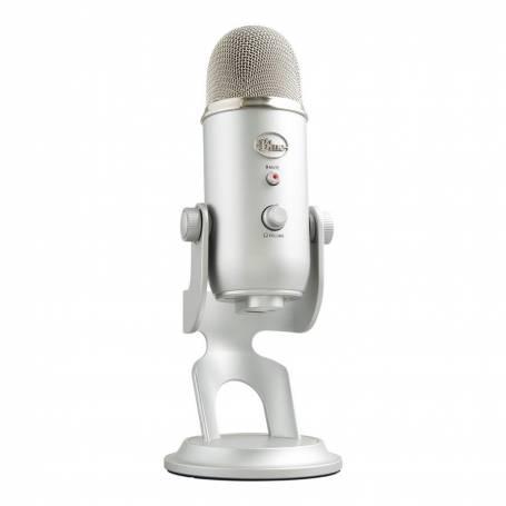 Microfono Blue YETI Silver p/Streaming y Podcast, Youtube, Logitech