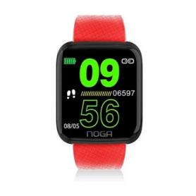 Smartwach BT Healt / Fitness,  Noga - NG-SW02 Rojo