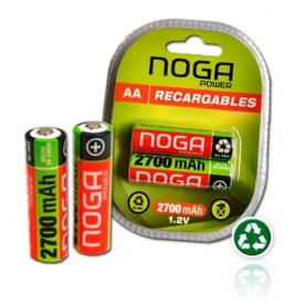 "Pila Recargable NOGA ""AA"" Pack 2 Unidades"