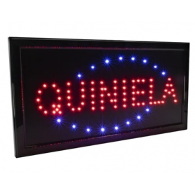 "Cartel LED ""QUINELA"" 48x25"